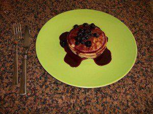 Pancakes like the settlers had.