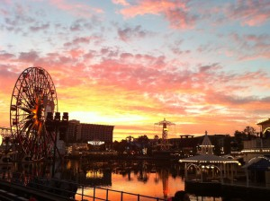 Disneyland – Not on the Beach but a great sunset anyway