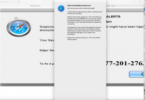 Safari Hijacked? Call 877-210-2763 is a SCAM.  Free Fix Here!
