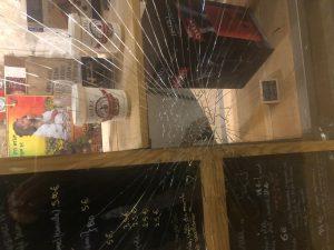 Broken glass in Paris